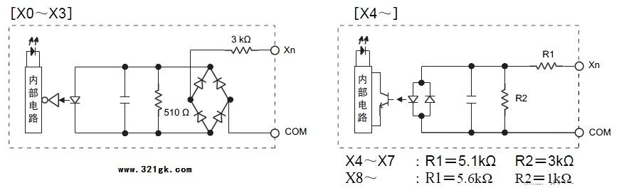 三菱plc内部电路图_三菱fx系列plc内部电路图