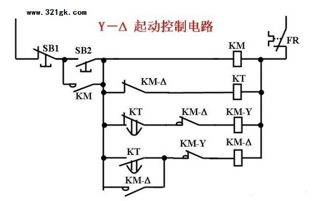 电动机星三角启动电路原理图解
