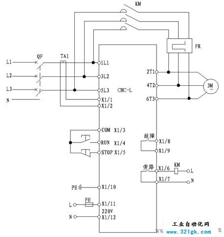 电机软启动器安装接线图详细流程