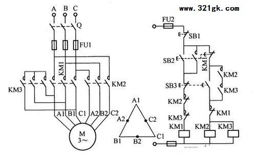 双速异步电动机控制电路图