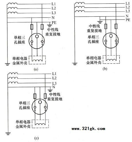 单相三孔插座的正确接线方法
