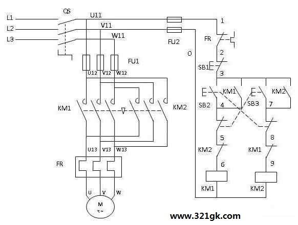 绕线式三相异步电动机特点-三相异步电动机正反转电路图