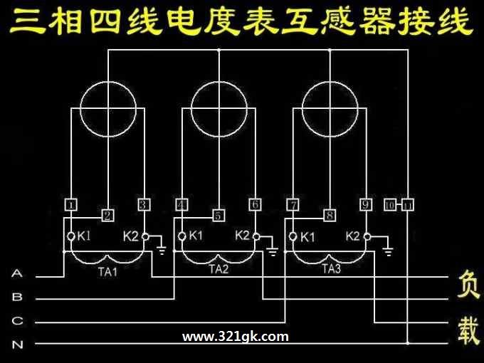 电流互感器型号组成 三相四线制电流互感器和电表的接