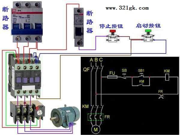接触器与热过载继电器的接线方法