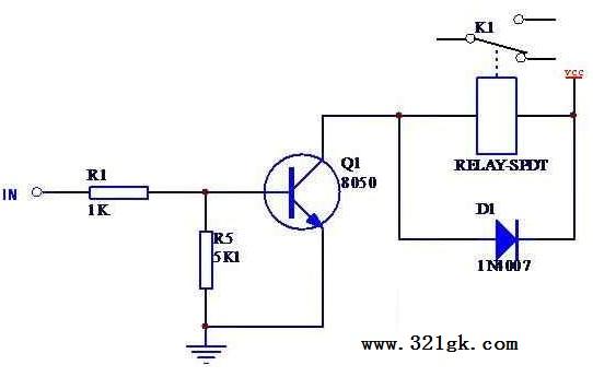 弱电控制强电接线图